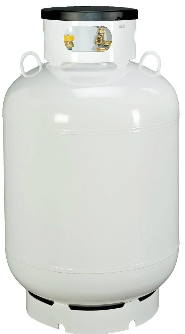 420 lbs 120 gallon propane d o t tank
