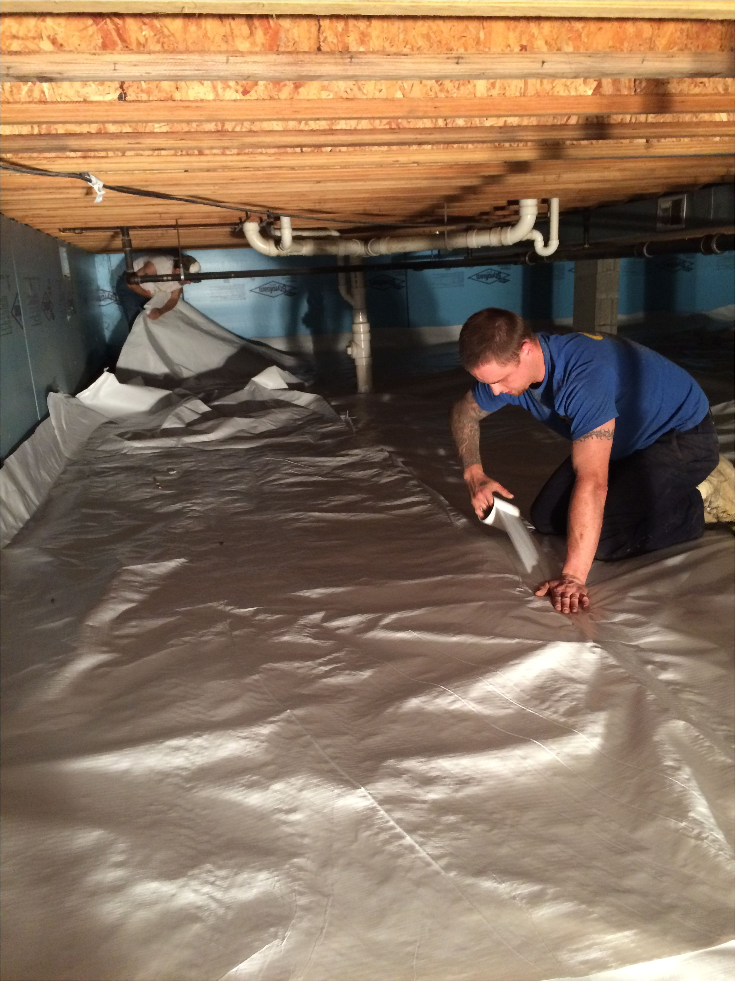 easy to install crawl space vapor barrier viper cs keep moisture out of your crawl space