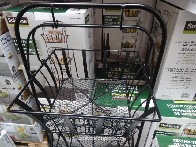 so home 3 tier floor basket