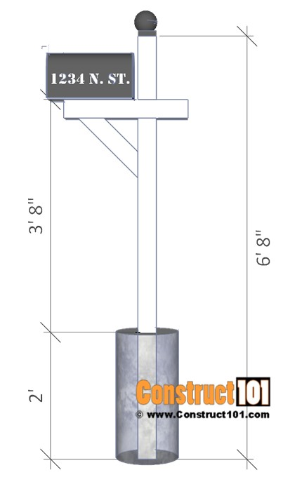 4×4 Mailbox Post Plans Mailbox Post Plans Diy Step by Step Plans Construct101
