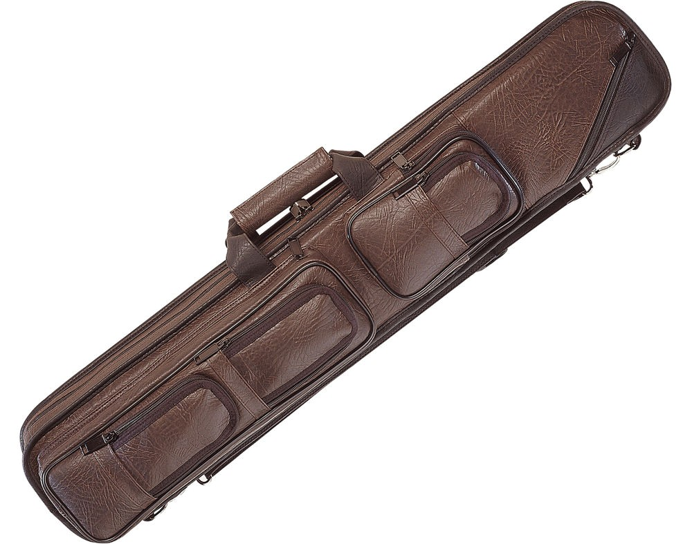 4×8 Hard Pool Cue Case Lucasi Lc5 4×8 Brown Pool Billiard soft Cue Case New Ebay
