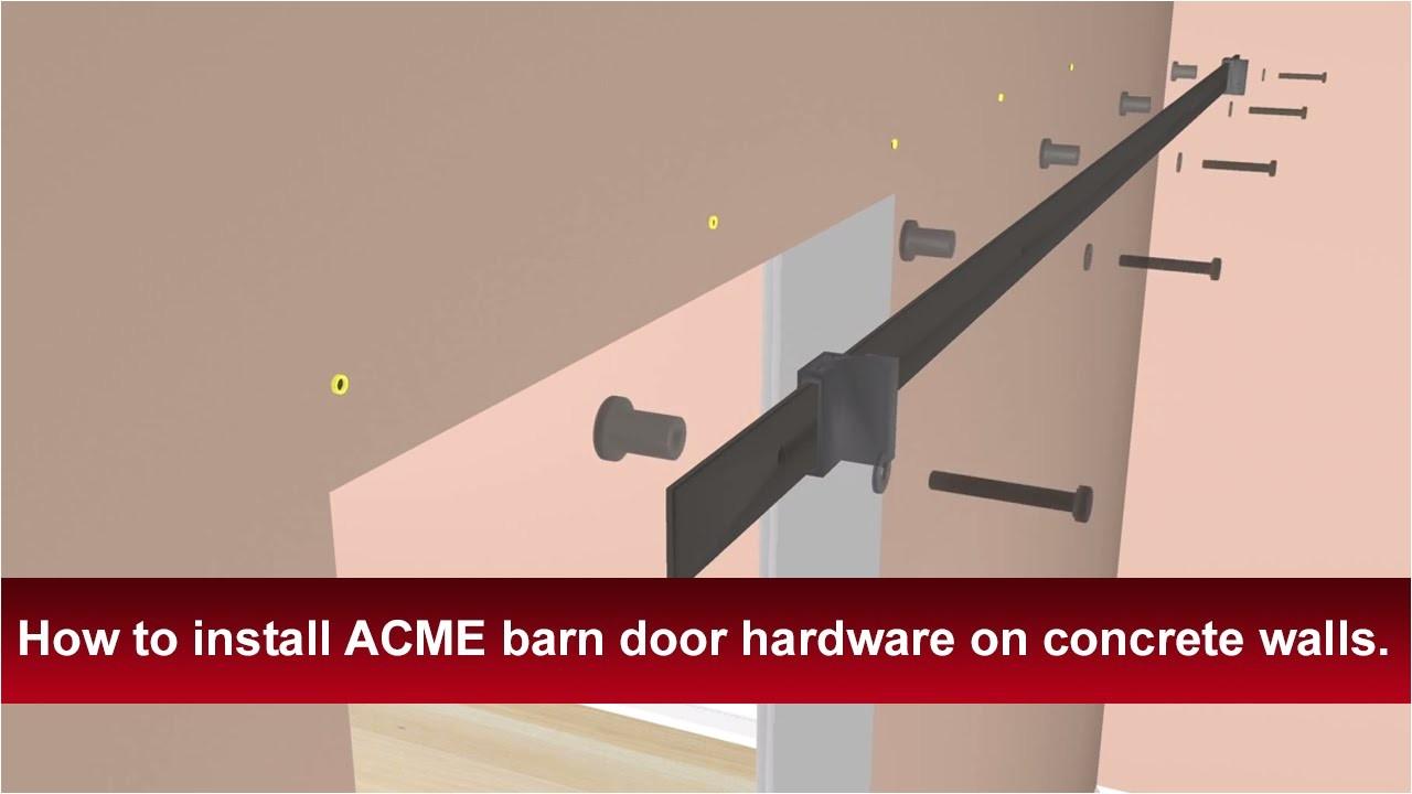 Acme Barn Door Hardware Installation Instructions How to Install Renin 39 S Barn Door Hardware Into Concrete
