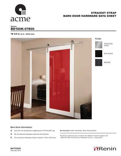 Acme Barn Door Hardware Madero Acme Sliding Door Tracks