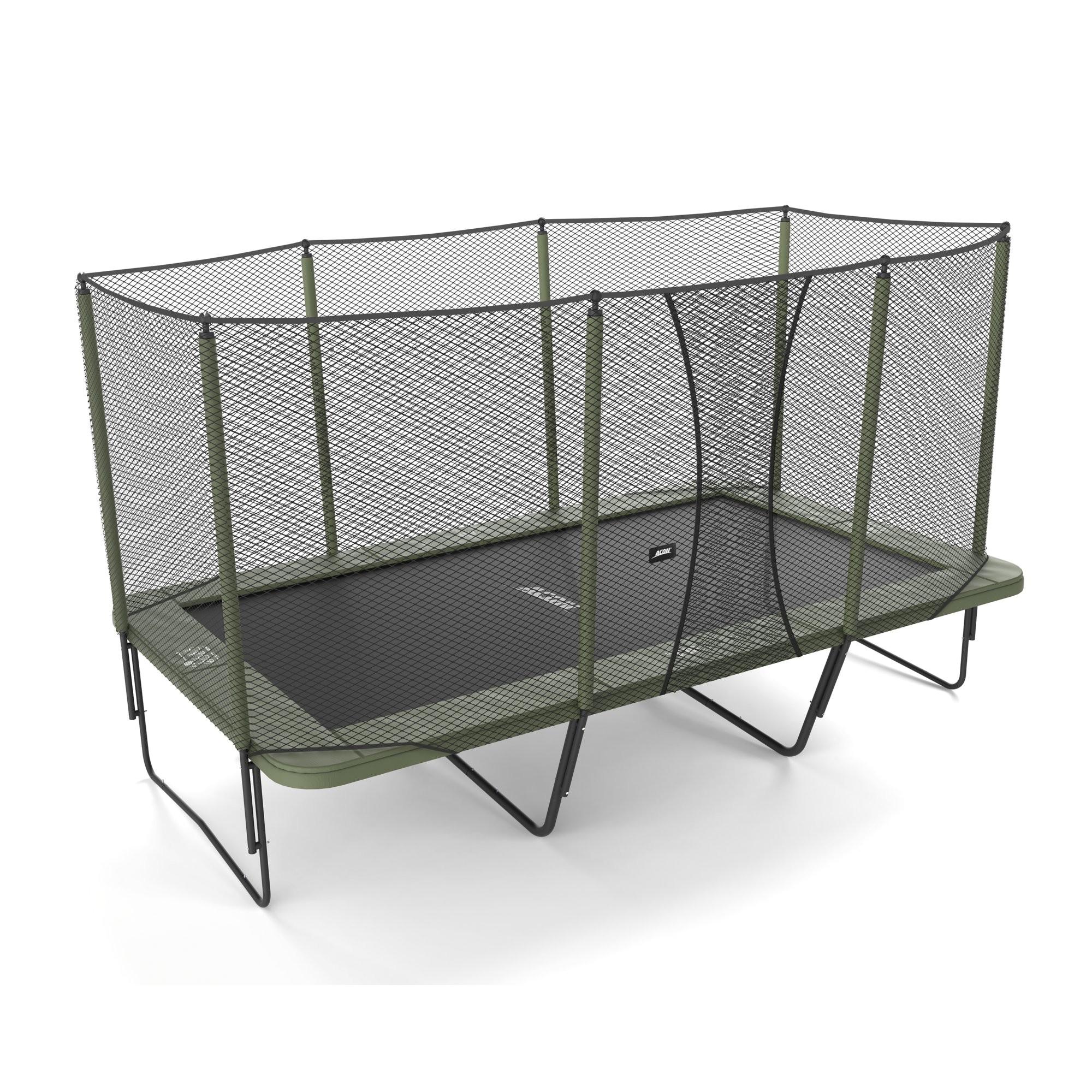 acon usa air 16 sport trampoline with enclosure acnu1000