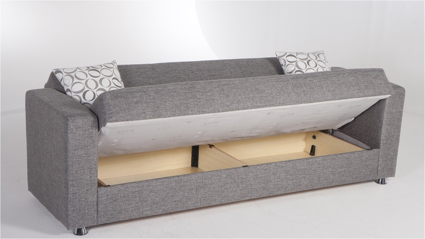 sleeper sofa storage