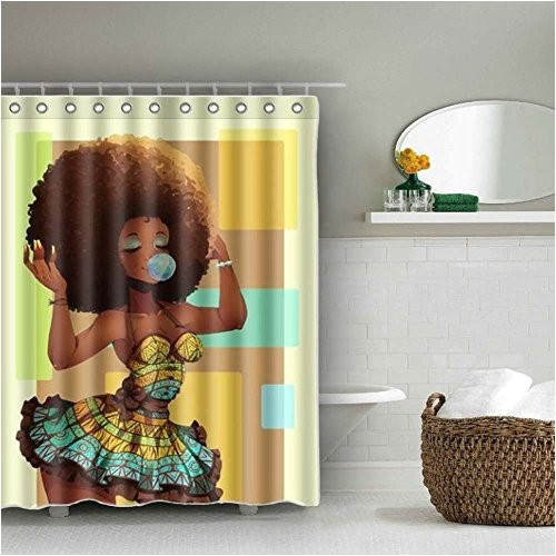 authentic afro shower curtain waterproof baixin 40182198