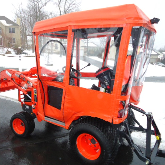 tractor cab enclosure for kubota bx series tractors requires canopy p 3958