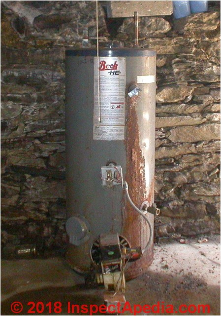 water heater age manuals