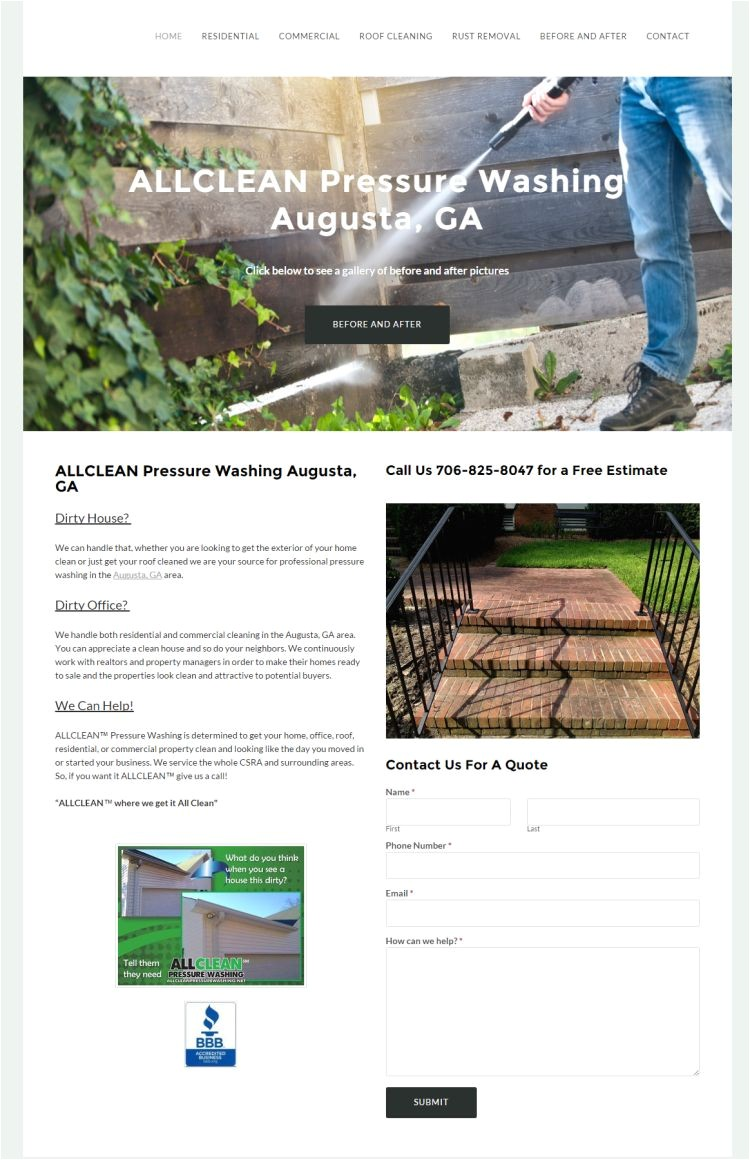 All Clean Pressure Washing Augusta Ga Services