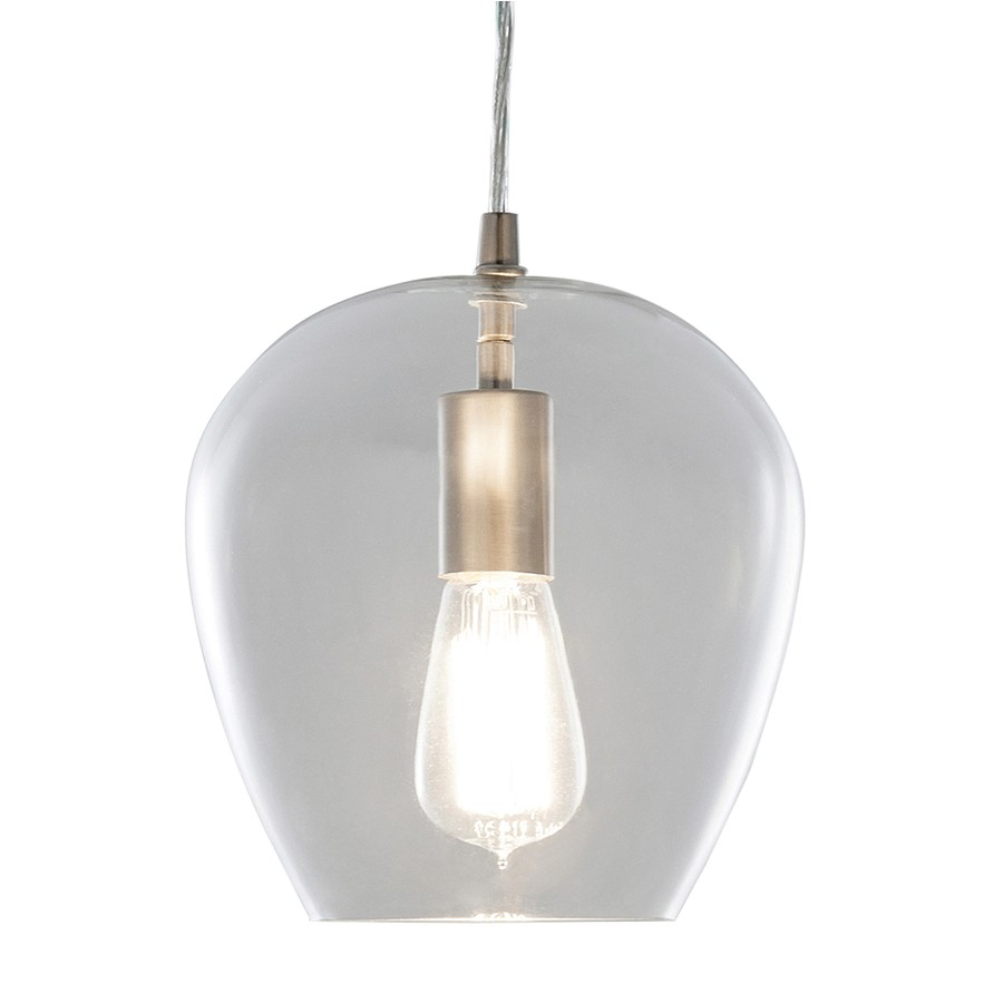 Allen and Roth Lighting Replacement Glass Shop Allen Roth 7 99 In Brushed Nickel Vintage Mini
