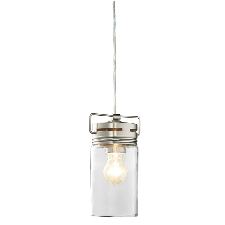 Allen and Roth Lighting Replacement Glass Shop Allen Roth Vallymede Brushed Nickel Farmhouse Mini