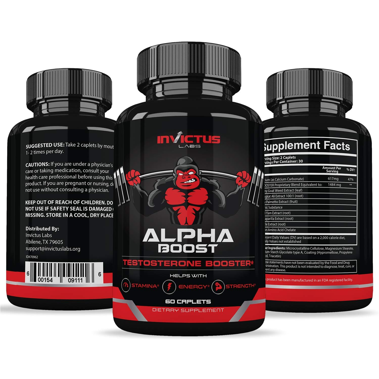 amazon com extra strength testosterone booster for men 60 caplets natural endurance stamina and strength booster build muscle fast performance and