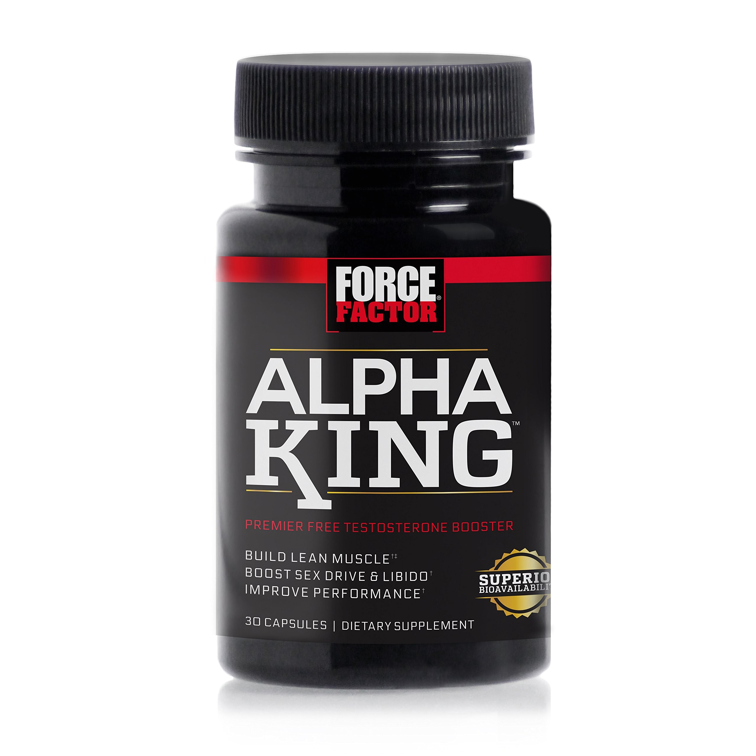 force factor alpha king testosterone booster increase passion and drive build lean muscle