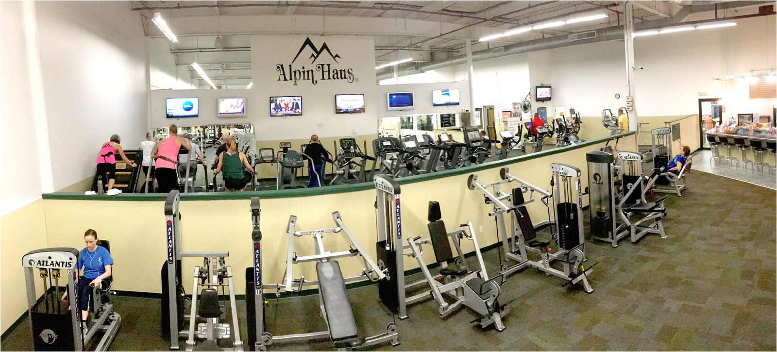 this is the cardio room and its equipment you will find at alpin haus fitness center