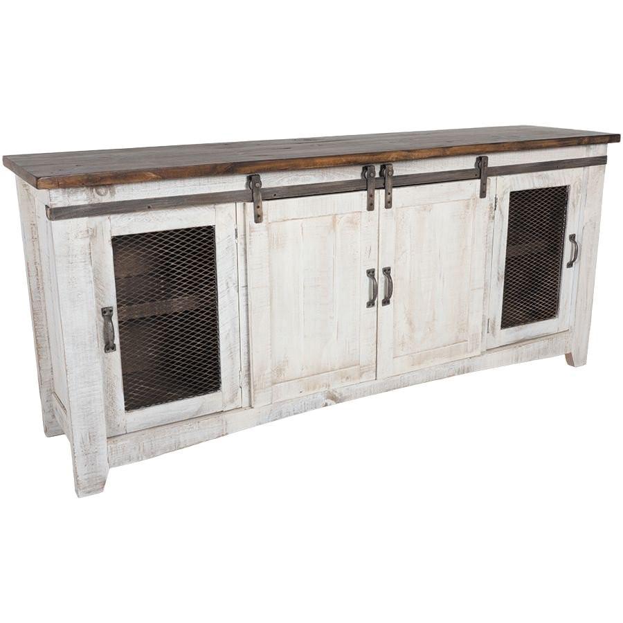 American Furniture Warehouse Pueblo Tv Stand ifd360stand 80 Pueblo 80 Quot Barn Door Tv Stand by Artisan
