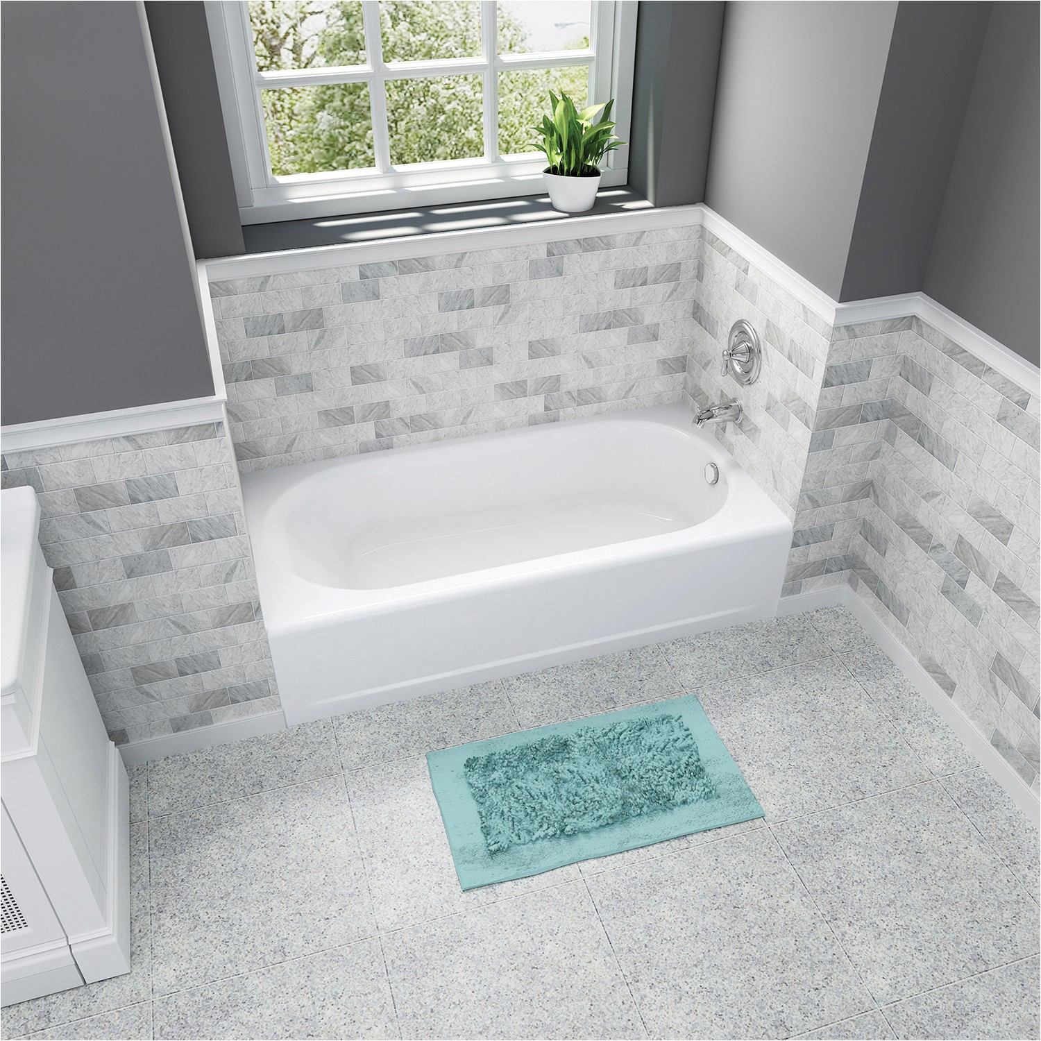 durable americast tubs offer innovative stansure slip resistant finish for improved bathroom safety