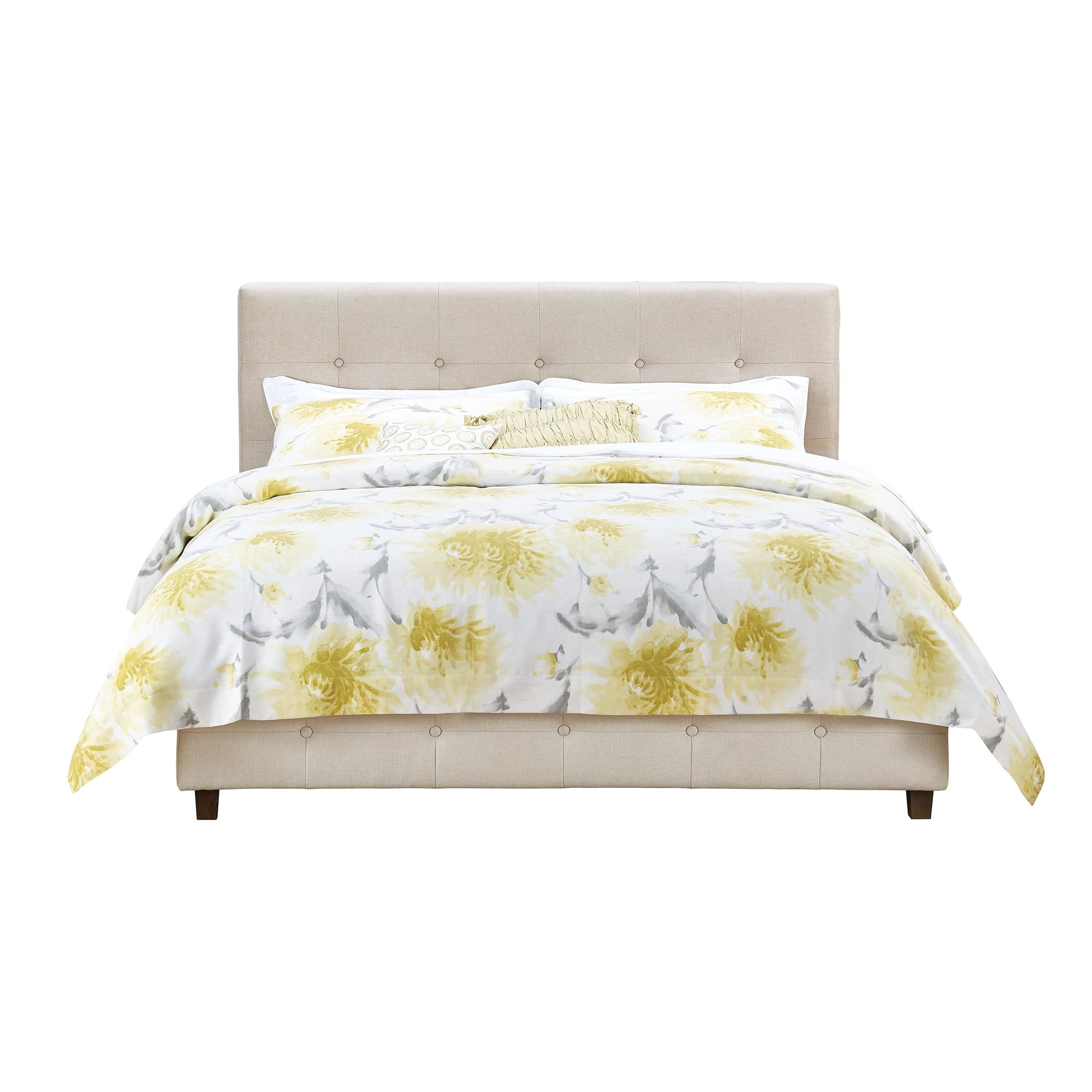 rose upholstered panel bed ando2170 ando2170