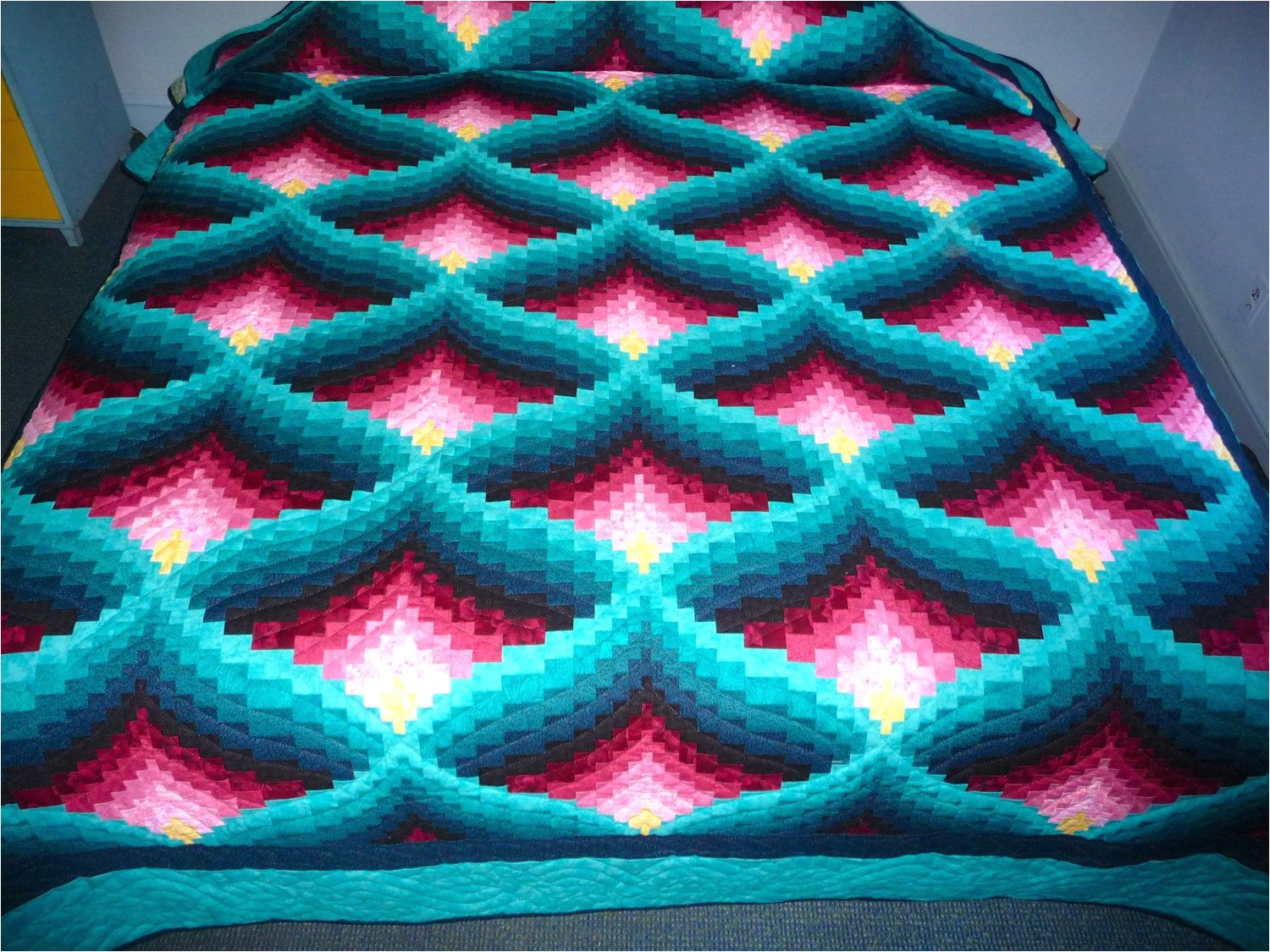 Amish Light In the Valley Quilt Pattern Amish Quilt Light In the Valley Pattern New Teal Green