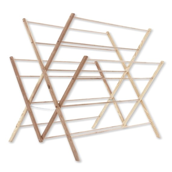 Amish Made Wooden Clothes Drying Rack Adinaporter