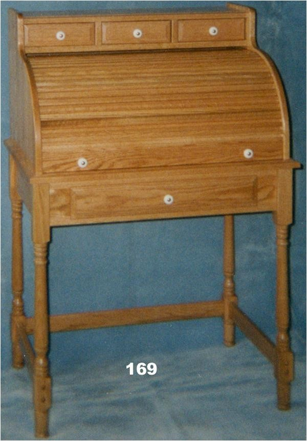 amish student oak rolltop desk classic styling 4566970 detail