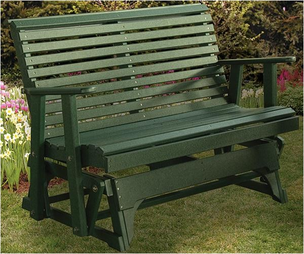 polyurethane glider ohio amish outdoor furniture 4 or 5 foot glider roll back design 2046219 detail