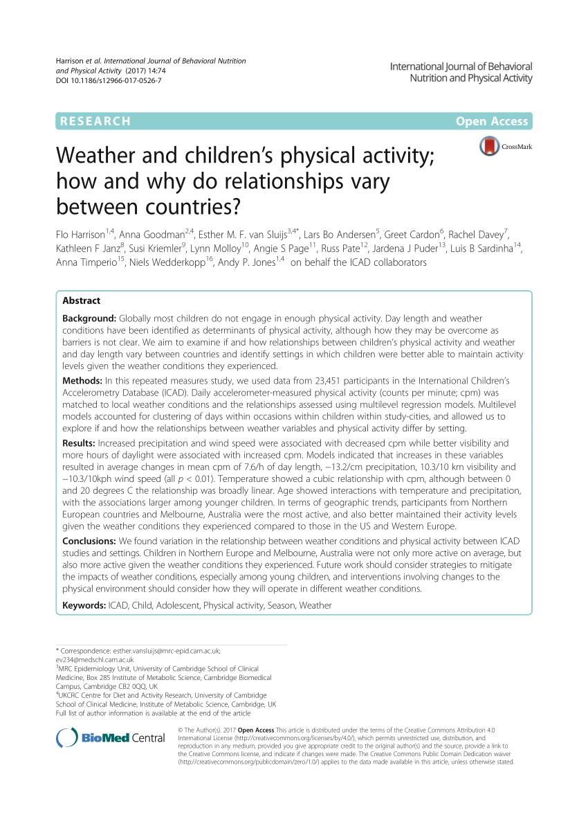 pdf international children s accelerometry database icad design and methods