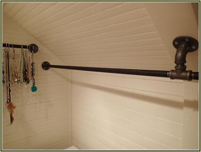 closet rod brackets angled ceiling mount
