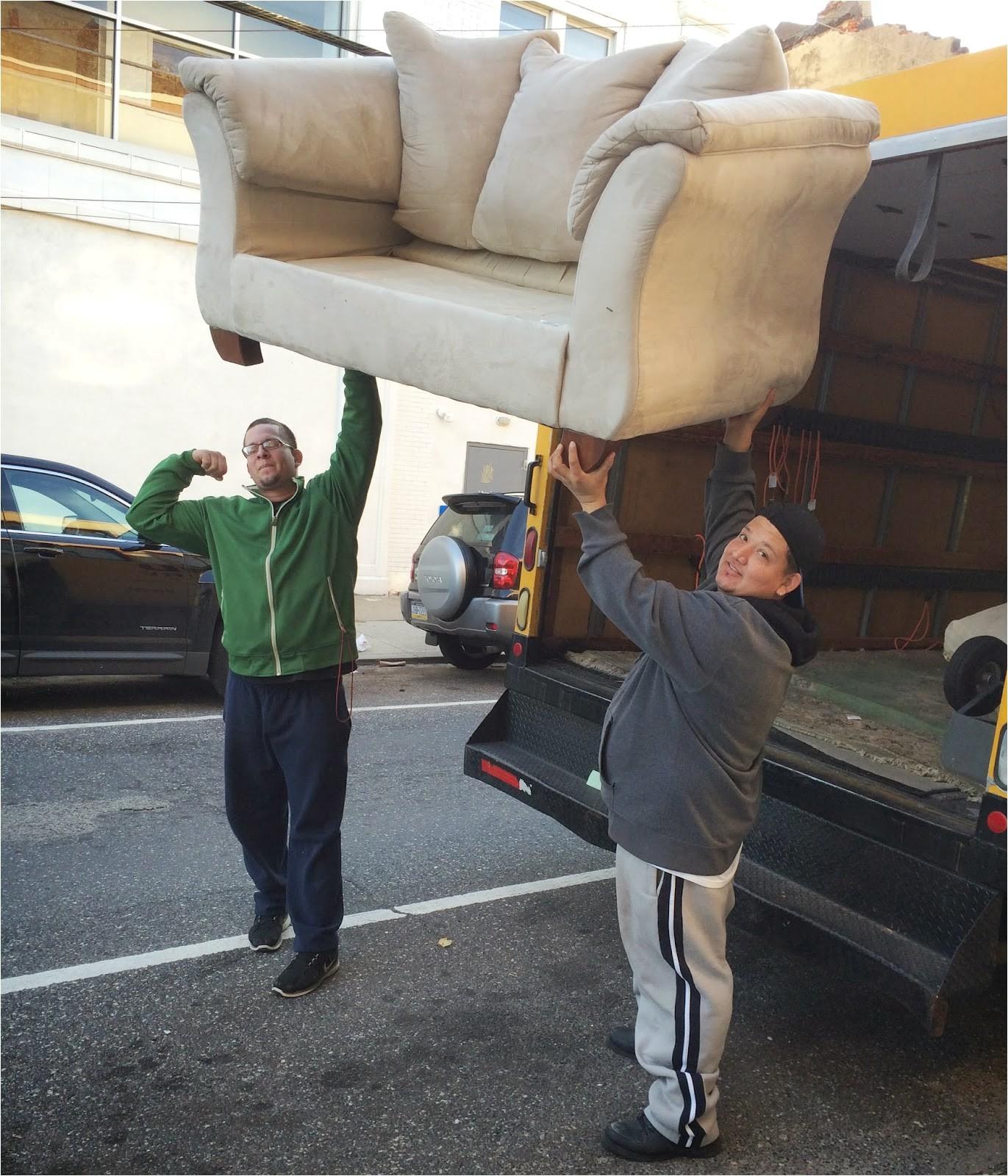 sofa trash pickup