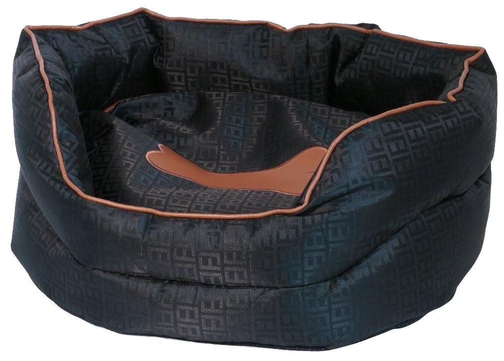 winks anti chew oval sleeper dog bed inch black tan ce59957b9d39a7a7