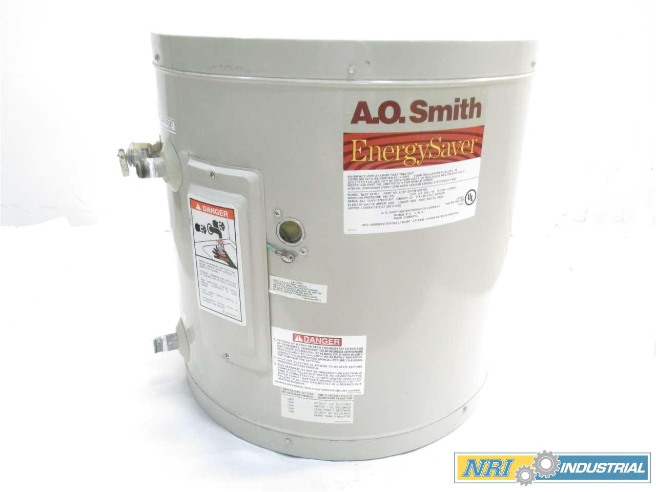 Ao Smith Del 10 Ao Smith Elsf 20 917 Energy Saver 19gal 2500w 115 120v Ac