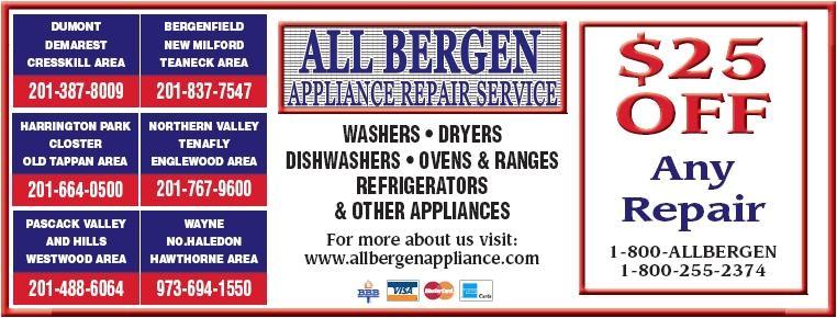 appliance repair bergen county nj