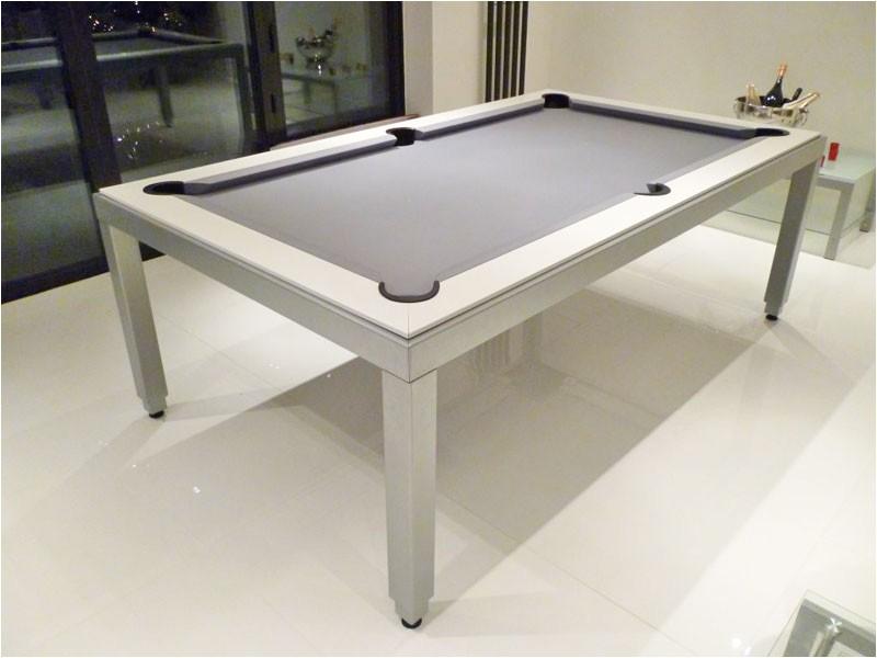 aramith fusion white pool dining table