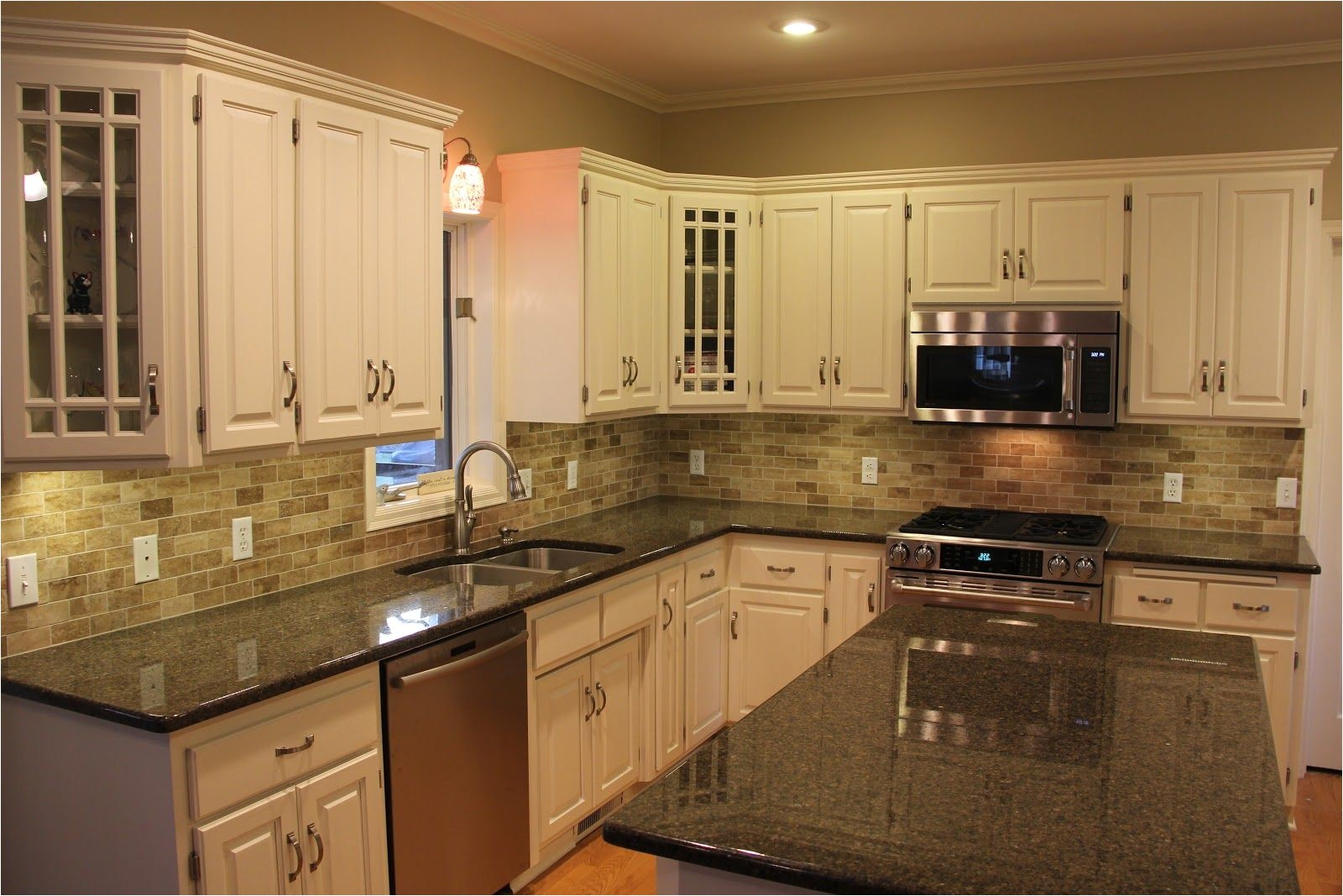 tile backsplashes with granite countertops black kitchen granite countertops with tile backsplash and white