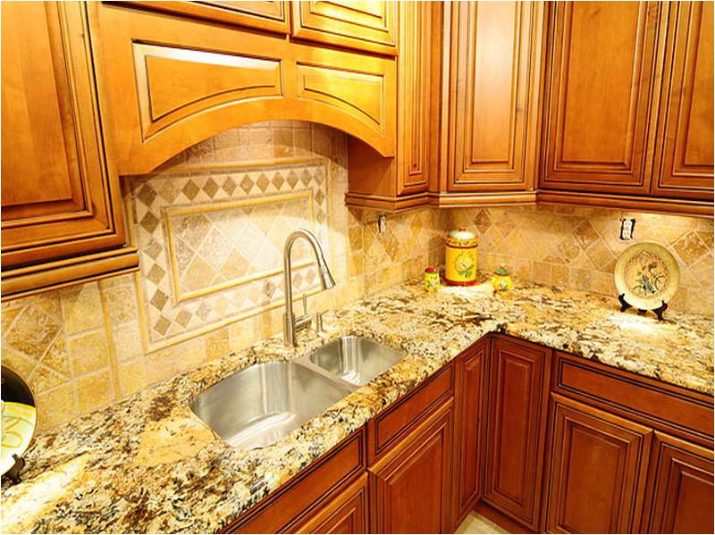 Backsplash Ideas With New Venetian Gold Granite For The Kitchen