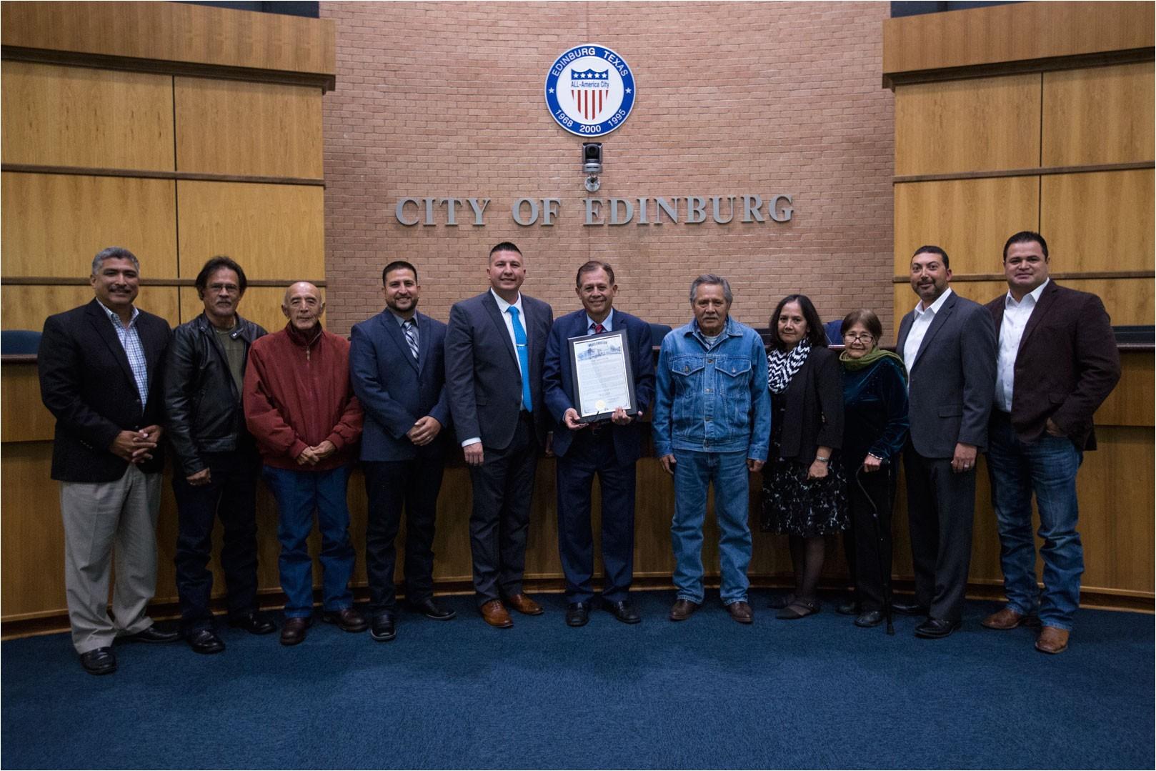 edinburg texas nov 21 2018 the edinburg city council recognized judge juan r partida for 30 years of service to the 275th district court