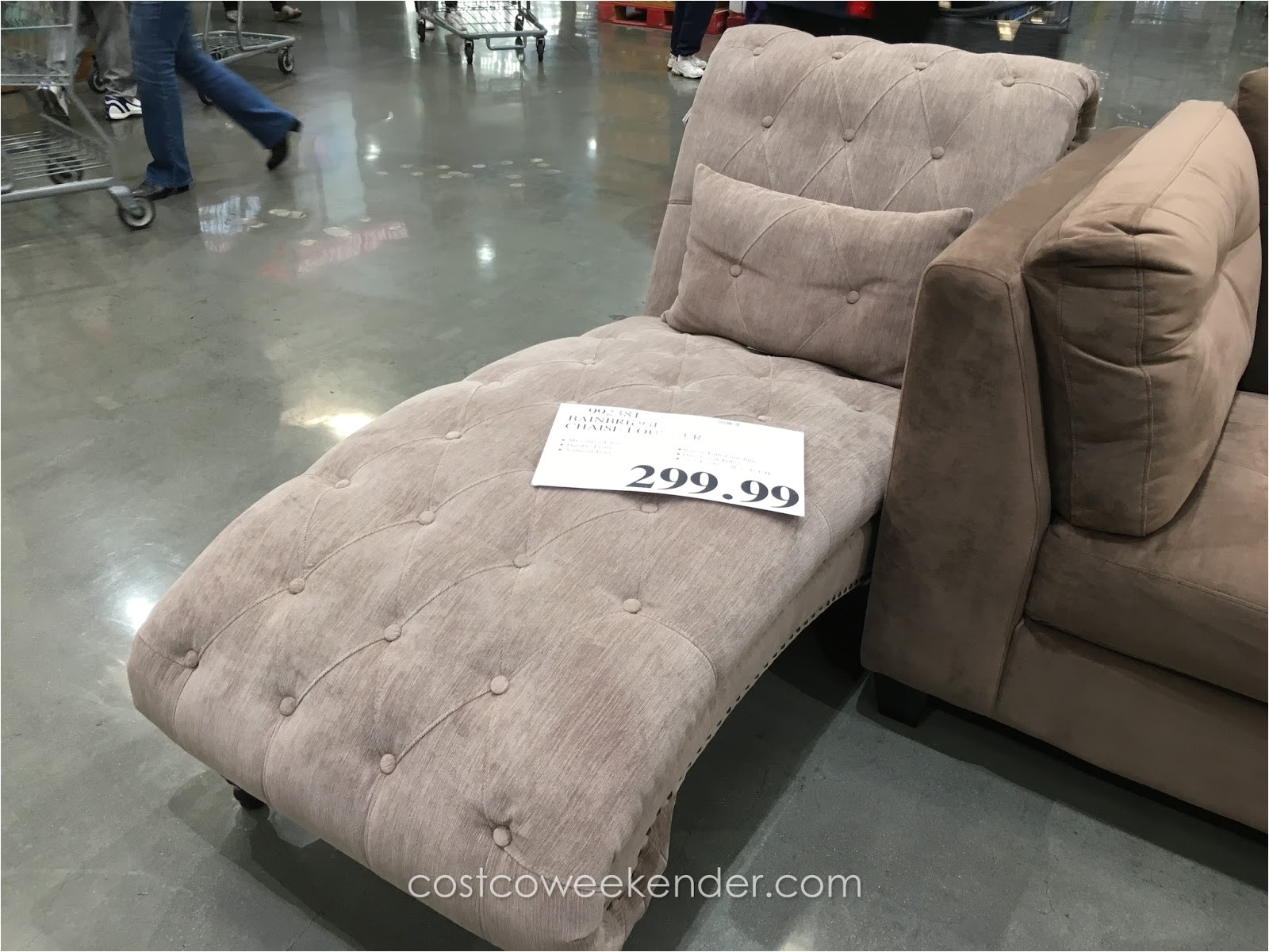 bainbridge chaise lounger chair costco 992381