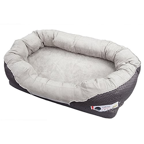 Barksbar orthopedic Dog Bed Barksbar Gray orthopedic Dog Bed Snuggly Sleeper with