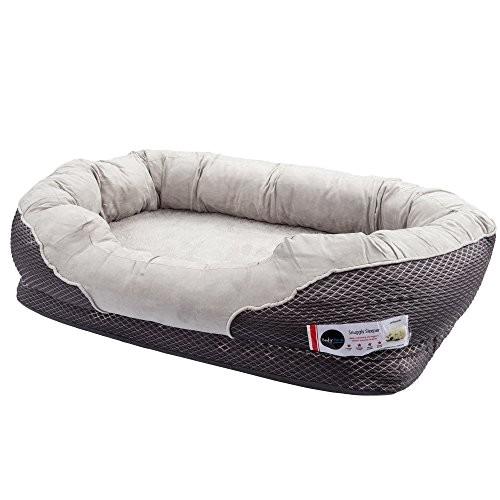 barksbar gray orthopedic dog bed snuggly sleeper