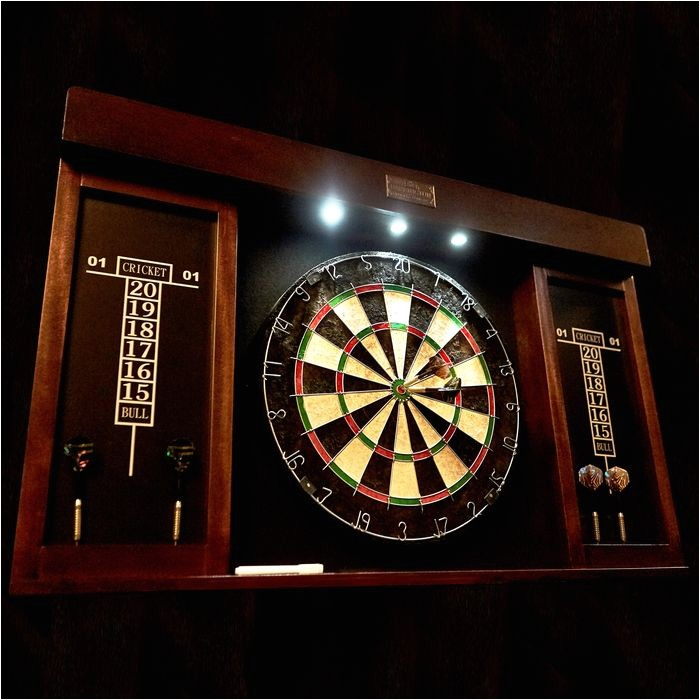 Barrington 40 Dartboard Cabinet with Led Light Barrington 40 Inch Dartboard Cabinet W Led Light Md