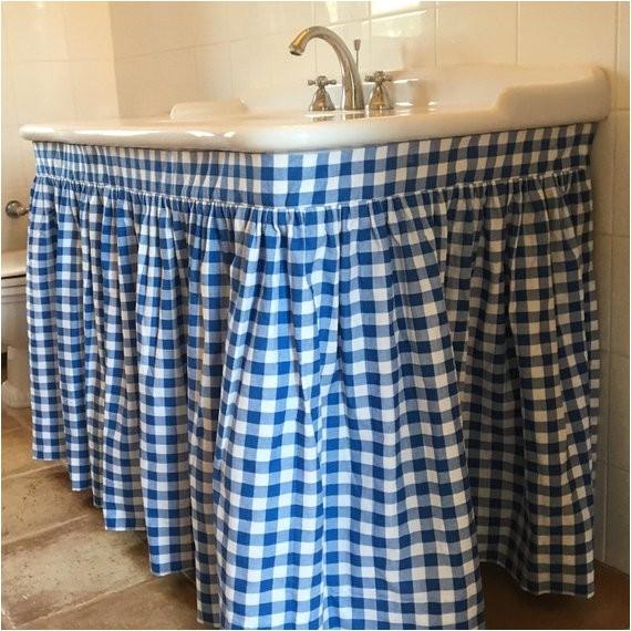 sink skirt custom shirred choose your