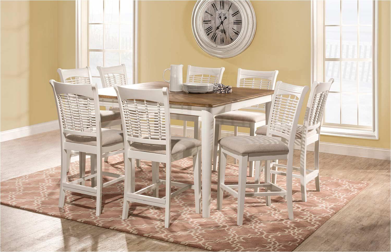 hillsdale bayberry 9 piece counter height dining set whitedriftwood hd 5791dtbsg9 din set p 89665