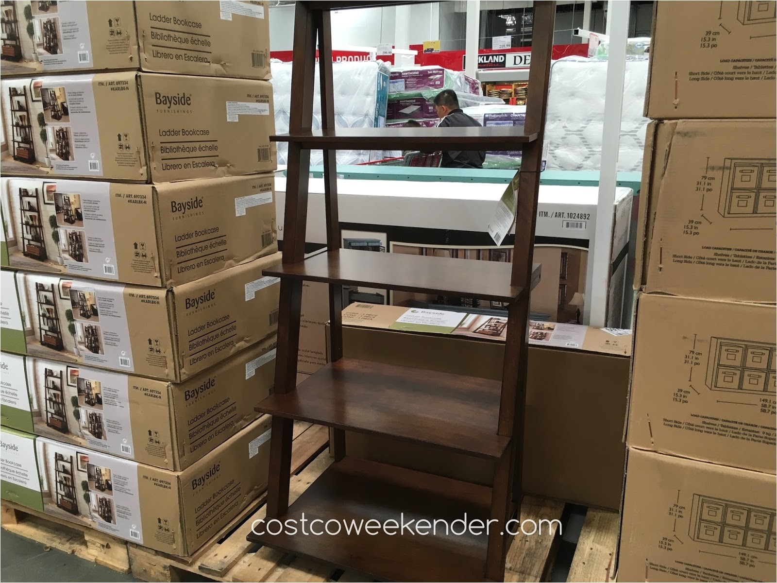Bayside Furnishings Ladder Bookcase Bayside Furnishings Ladder Bookcase Costco Weekender