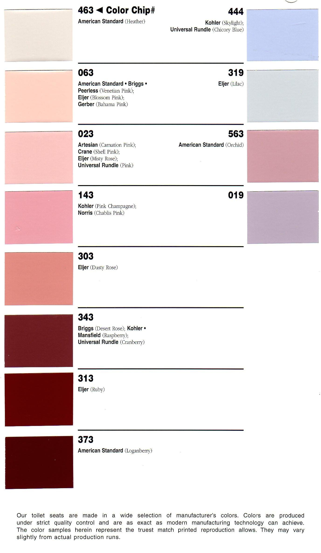 bemis color chart