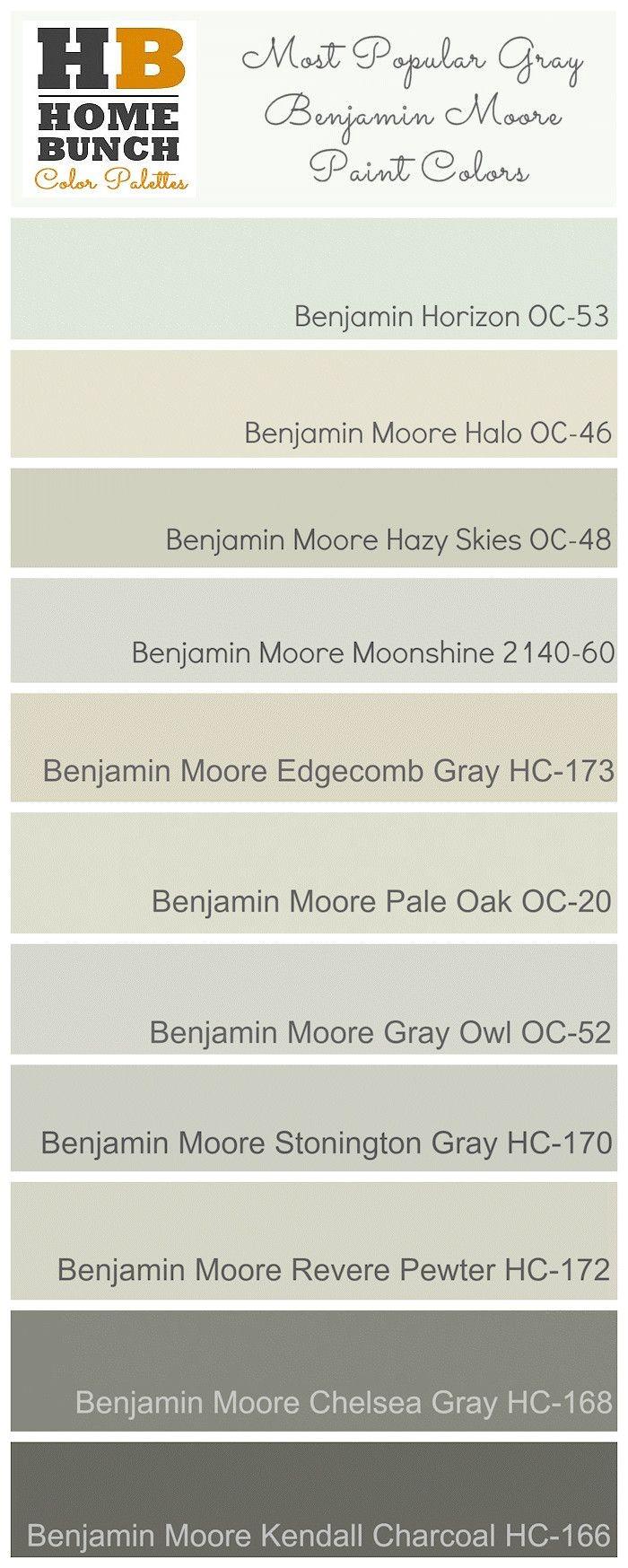 Ben Moore Horizon Oc 53 Most Popular Gray Benjamin Moore Paint