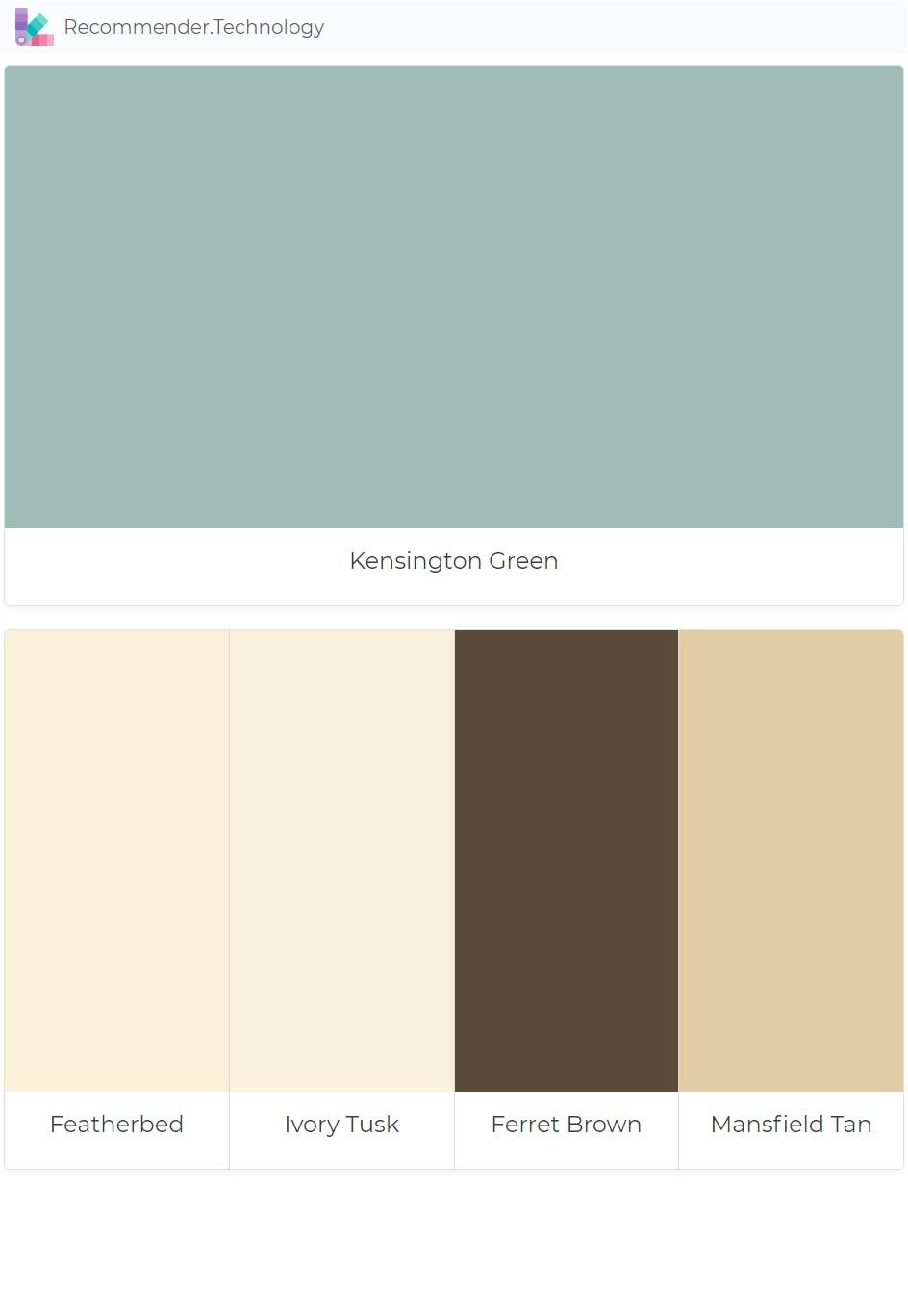 kensington green featherbed ivory tusk ferret brown mansfield tan