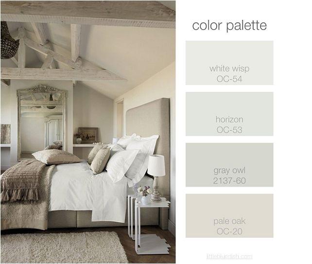 Gray Paint Color Palette: Benjamin Moore Horizon Oc-53 Vs 1478