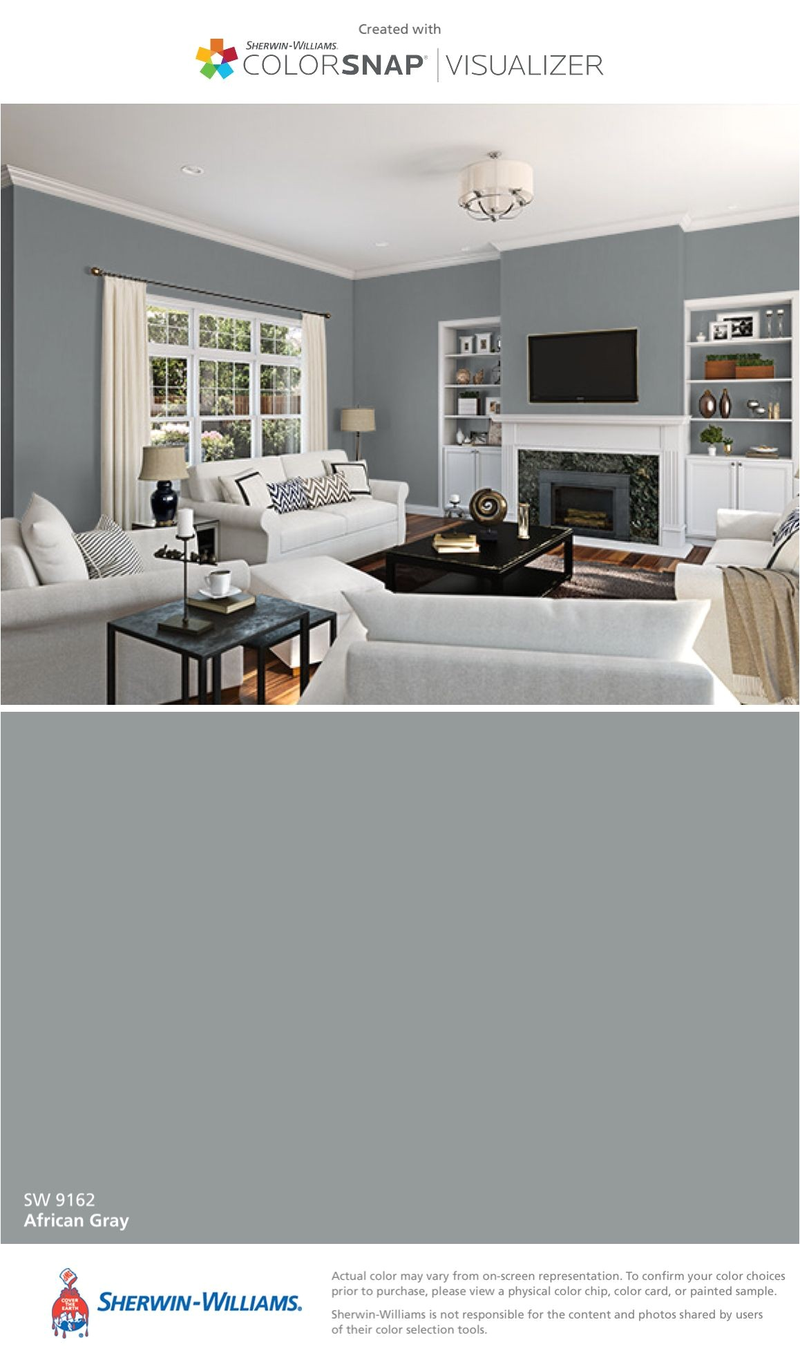 i found this color with colorsnapa visualizer for iphone by sherwin williams african gray sw 9162