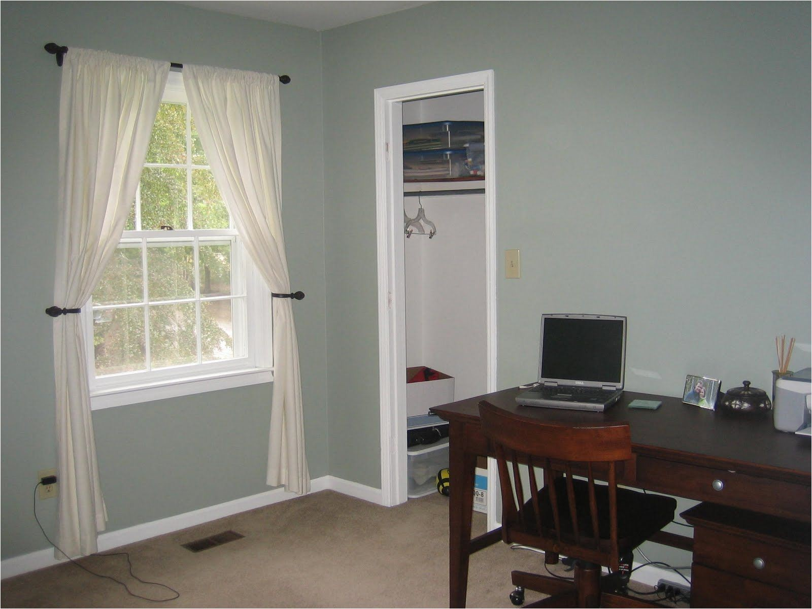 sherwin williams oyster bay changes from green to blue to grey depending on the light love it