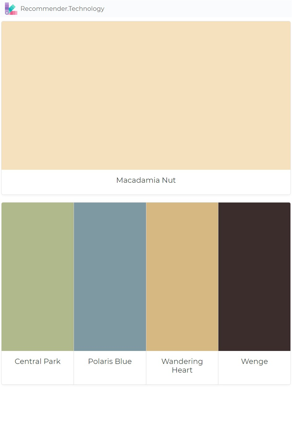 macadamia nut central park polaris blue wandering heart wenge paint color palettes