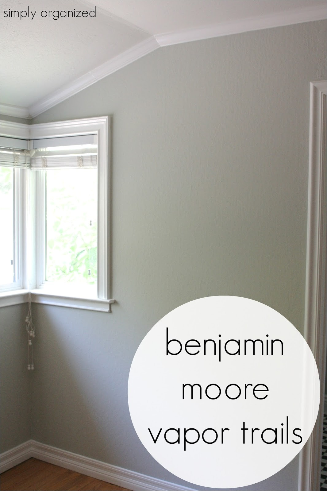 Benjamin Moore Vapor Trails My Home Interior Paint Color Palate Simply organized